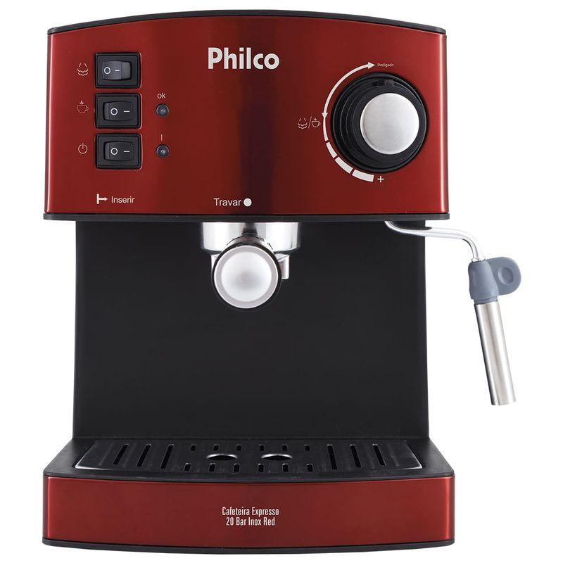 Cafeteira Elétrica Philco Inox Red Vermelho 220v - Pcf41