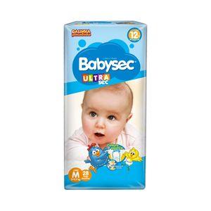 Fralda Descartável Babysec Tamanho M com 28 Unidades