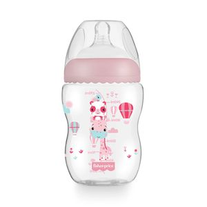 Mamadeira Fisher Price First Moments Rosa Algodão Doce 270ml