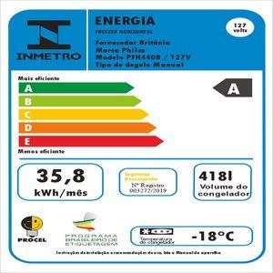 Freezer Horizontal Philco PFH440B 418L - Freezer e Refrigerador