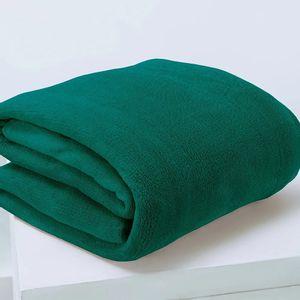 Manta Cobertor Casal Microfibra Andreza Fleece Verde