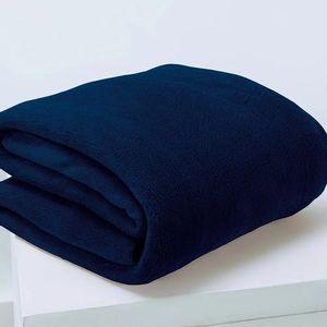 Manta Cobertor Queen Microfibra Andreza Fleece Azul