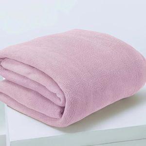 Manta Cobertor Queen Microfibra Andreza Fleece Rosa