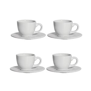 Conjunto de Xícaras de Café Scalla em Cerâmica 4 Peças 100ml