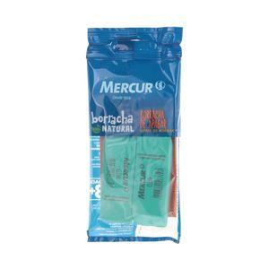Borracha Mercur Clean Macia Verde com 2 Unidades