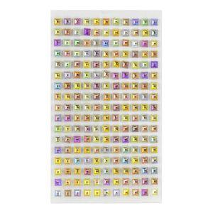 Adesivo Strass Quadrado Furtacor com 187 Unidades
