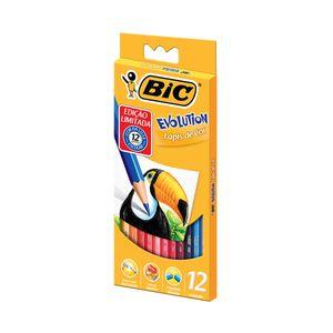 Lápis de Cor Bic Evolution com 12 Cores
