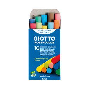 Giz Escolar Giotto Colorido com 10 Unidades