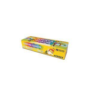 Tinta Guache Acrilex com 12 Cores 15ml
