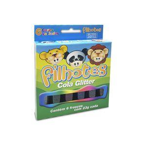Cola Acrilex Gliter Filhotes com 6 Cores 23g