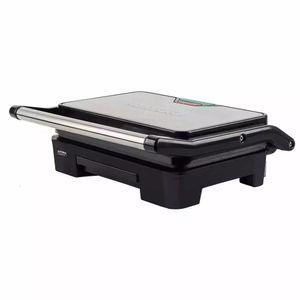 Grill Retangular Mallory Asteria Compact Inox com Placas Ajustáveis - 900w 127v