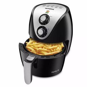Fritadeira Elétrica Air Fryer Mondial Family Af-30 3,5l Preta - 127v