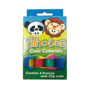 Cola Acrilex Colorida Filhotes com 4 Cores 23g