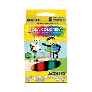 Cola Acrilex Colorida com 4 Cores 23g