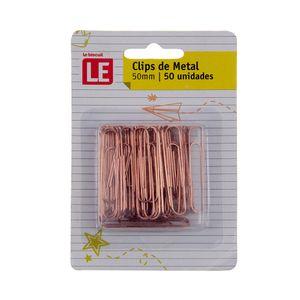 Clip Metálico Le Rosé 50mm com 50 Unidades
