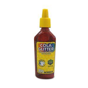 Cola Acrilex Gliter Vermelha 35g