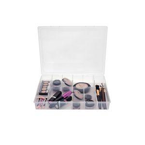 Organizador Plástico com 12 Divisórias 29x22,5x4,5cm 1580 Transparente