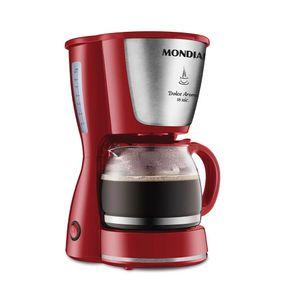 Cafeteira Elétrica com Porta Filtro Mondial Dolce Arome Vermelha 18 Xícaras - 127v