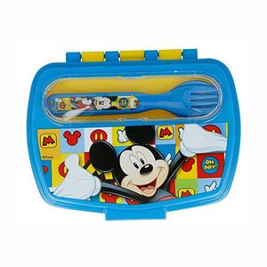 Lancheira Lillo Disney Mickey com Garfo e Colher