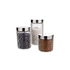 Conjunto de Potes Euro Home Rattan 3 Peças Incolor