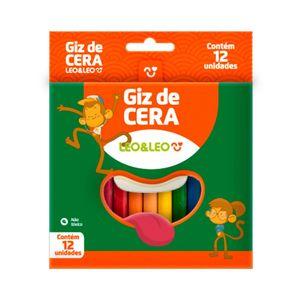 Giz Cera Leonora Fino 12 Cores Vibrantes