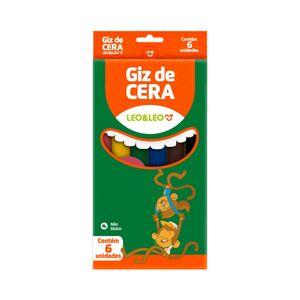 Giz Cera Leonora Fino 6 Cores Vibrantes