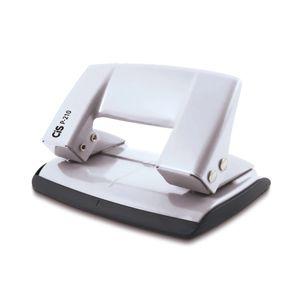 Perfurador de Papel Cis Office Metálico Branco com 2 Furos Para Até 10 Folhas