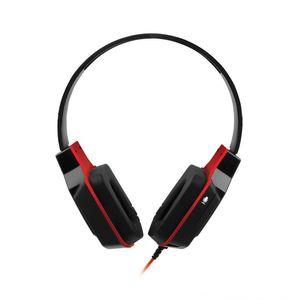 Headset Gamer Multilaser Conexão P2 com Haste Regulável Preto e Vermelho Ph073
