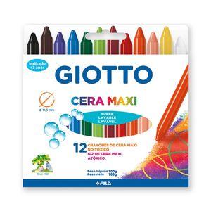 Gizão Cera Giotto Maxi 12 Cores Vibrantes