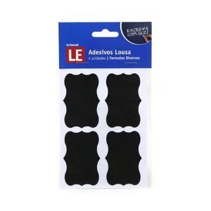 Adesivo Lousa Negra Pvc com 4 Etiquetas Preto 9,5x13cm