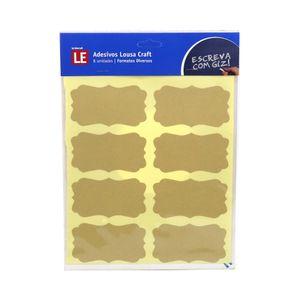 Adesivo Lousa Craft Pvc com 8 Etiquetas  Bege 20,5x23cm