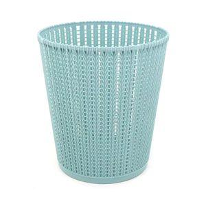 Cesto Para Papel Le Plástico Vazado 8l Liso Azul