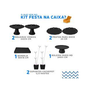 Kit Festa Produfest com 8 Peças Preto