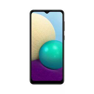 "Smartphone Samsung Galaxy A02 32gb Tela 6.5"" Câmera Dupla 13mp + 2mp Preto"