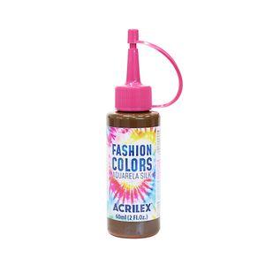 Tinta Para Tecido Aquarela Silk 60ml Marrom