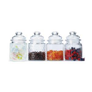 Conjunto de Potes de Vidro Casambiente com 4 Peças 300ml Incolor