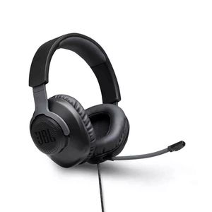 Headphone Jbl Quantum 100 com Microfone Removível Over-Ear Gamer Preto