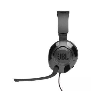 Headphone Jbl Quantum 200 com Fio e Microfone Flip-Up Over-Ear Gamer Preto