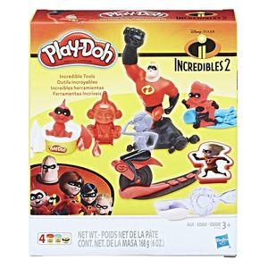Figura e Massa de Modelar - Play-Doh - Disney - Os Incríveis 2 - Hasbro