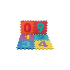 Tapete Eva Le Número 31,5x31,5x1cm com 10 Peças