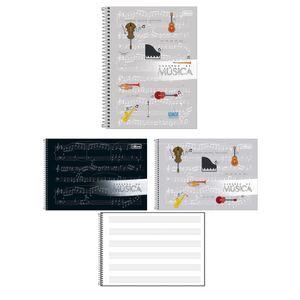 Caderno de Música Tilibra Espiral Capa Dura Pequeno 80 Folhas Capas Diversas