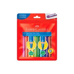 Hidrocor Faber-Castell Vai e Vem com 12 Cores