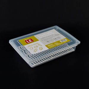 Organizador de Geladeira Le Clear em Plástico Branco 1,6l