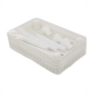 Estante de Plástico Multiuso Le Retangular Empilhável com 2 Prateleiras Branca 24,5x15x20cm