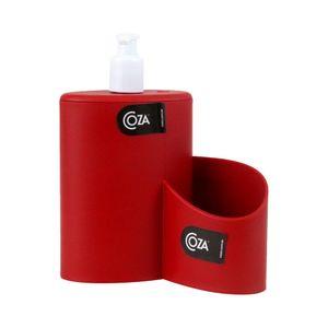 Dispenser de Detergente Coza Abraço em Plástico Vermelho 600ml