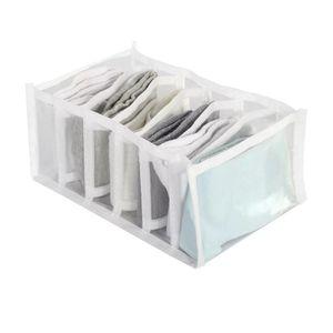 Organizador Le Clear Multiuso Pvc Transparente Retangular com 6 Divisórias