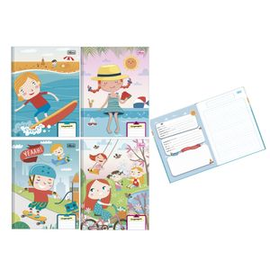 Caderno de Linguagem Tilibra Brochura Capa Dura Sapeca 40 Folhas Capas Diversas - Item Sortido