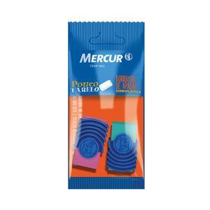 Borracha Mercur Colors com Capa Plástica 2 Unidades