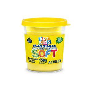 Massa Modelar Acrilex Soft Potinho Base de Amido Amarelo Limão 150g