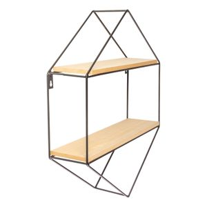 Prateleira Dupla Le Hexagonal 35,5x10x45,5cm Metal/mdf